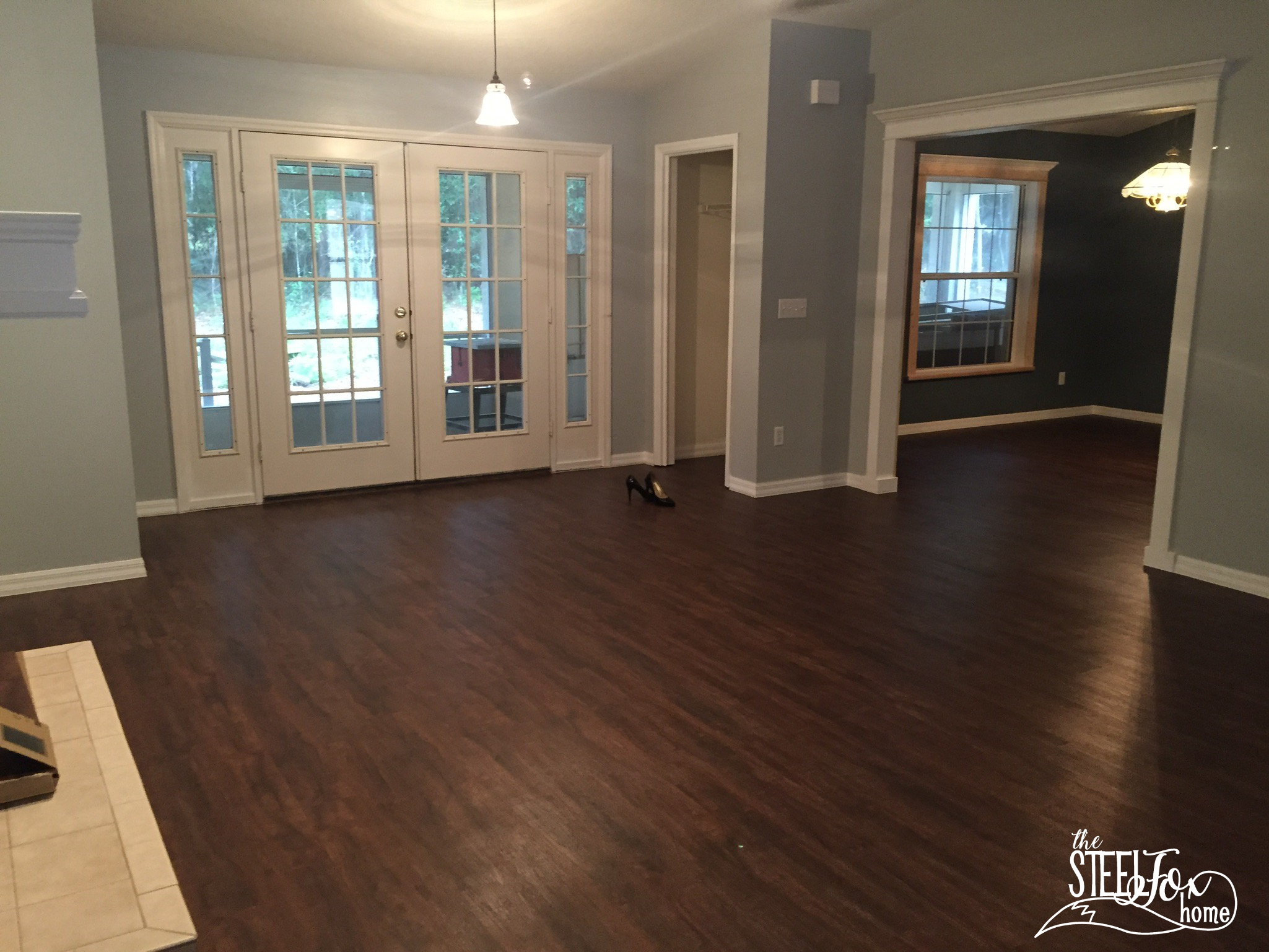 front door texture. You Can See In This Picture From My Post About Our Floors Just How Open The View Is\u2026 And Fact That A Table Saw On Front Porch Is Kind Of Door Texture