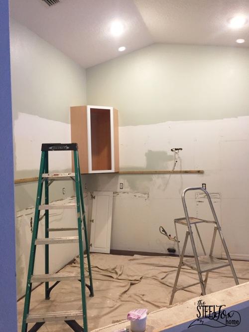 3- rta shaker white kitchen cabinet renovation install farmhouse kitchen fixerupper the steel fox home blog
