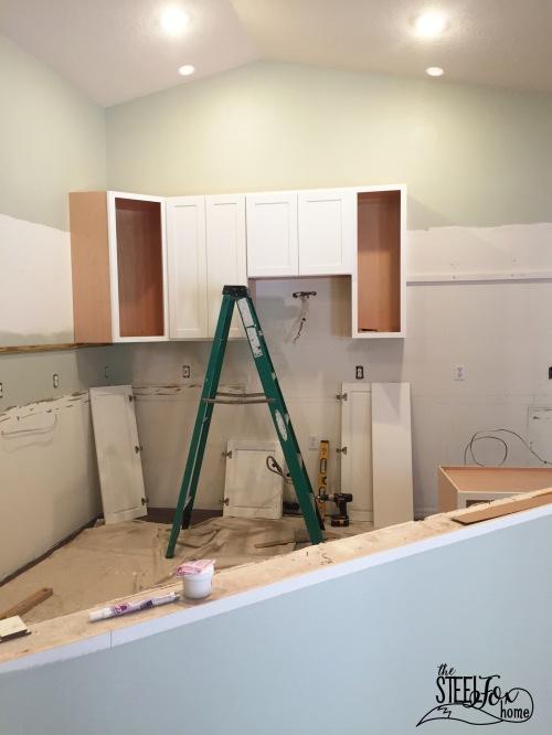 4- rta shaker white kitchen cabinet renovation install farmhouse kitchen fixerupper the steel fox home blog