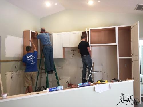 5- rta shaker white kitchen cabinet renovation install farmhouse kitchen fixerupper the steel fox home blog