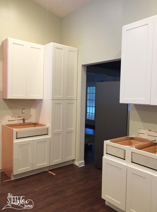 9- rta shaker white kitchen cabinet renovation install farmhouse kitchen fixerupper the steel fox home blog