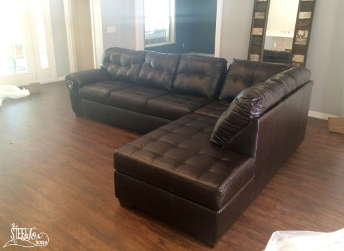 Big lots leather sectional 2