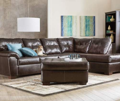 big lots leather sectional