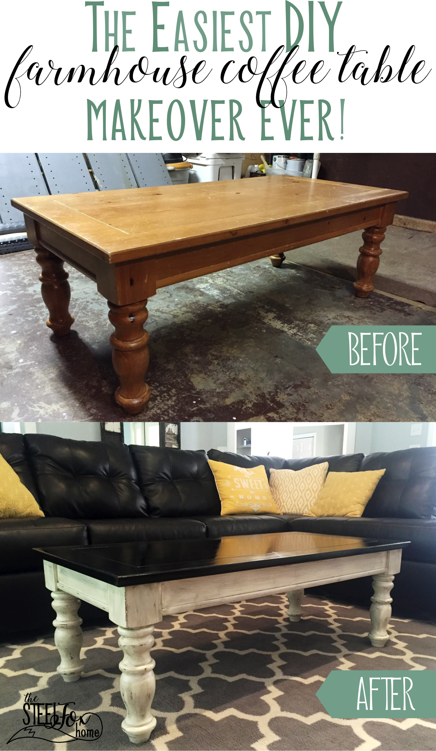 The Easiest Coffee Table Makeover Ever – The Steel Fox Home