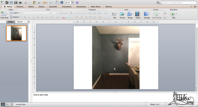 How to use power point to design a room decor gallery wall no nail holes ScreenShot3 steel fox home blog