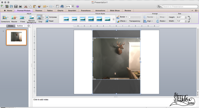 How to use power point to design a room decor gallery wall no nail holes ScreenShot4 steel fox home blog