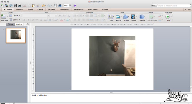 How to use power point to design a room decor gallery wall no nail holes ScreenShot5 the steel fox home blog