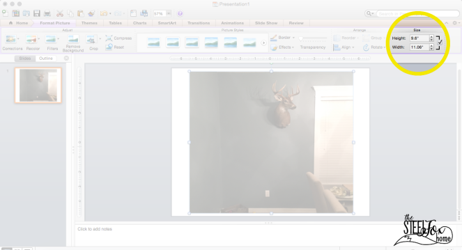 How to use power point to design a room decor gallery wall no nail holes ScreenShot6 the steel fox home blog