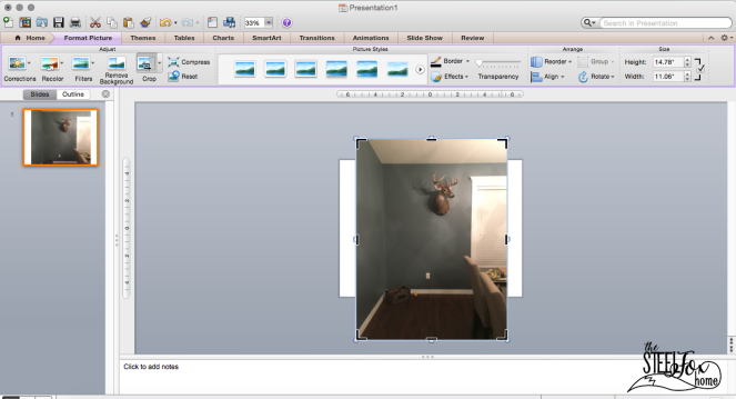 How to use power point to design a room decor gallery wall no nail holes ScreenShot7 the steel fox home blog